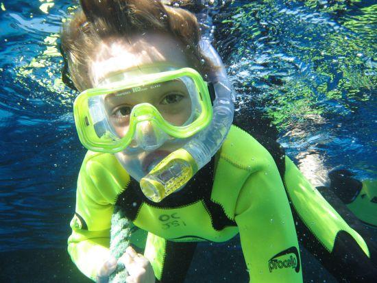 Трубка и маска для подводного плавания
