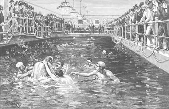 history of swimming